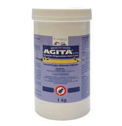 Agita 10 WG, insecticides, adulticides mouches, ténébrions badigeon, pulvérisation, effet KO, moucherons