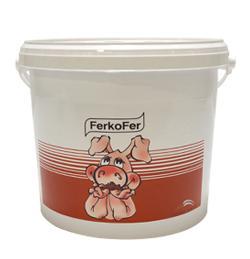 Ferkofer, apport de fer orale pour le porcelet, blanc