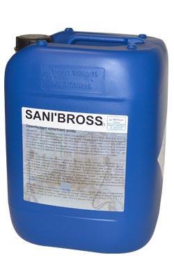 Sanibross, désinfectant matériel traite, faisceaux trayeurs, robot traite.