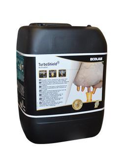 turboshield activator, effet barriere pour la désinfection des trayons