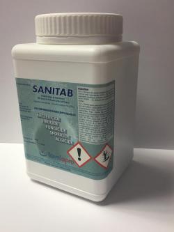 Sanitab, chlore tablette, eau de boisson, DCCNa, bactéricide, fongicide, virucide, algicide